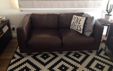 2 Leather Sofas. VGC. Chocolate brown. Only 3 years old. Pascoe Vale South Moreland Area Preview