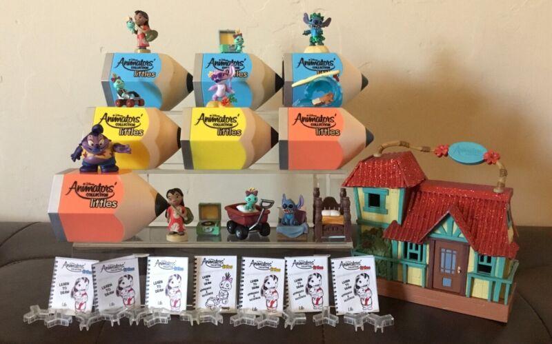 Disney Animators Collection Littles LILO & STITCH Playset Scrump Dr Jumba Chaser