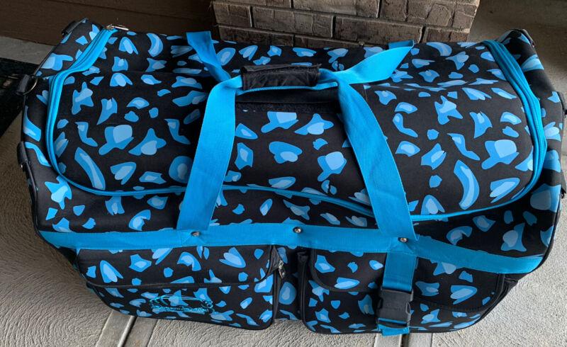 Dream Duffel Large Blue/Black Rolling Competition Dance Bag w/ Rack