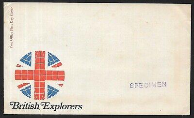 GB 1973 British Explorers blank FDC with SPECIMEN overprint