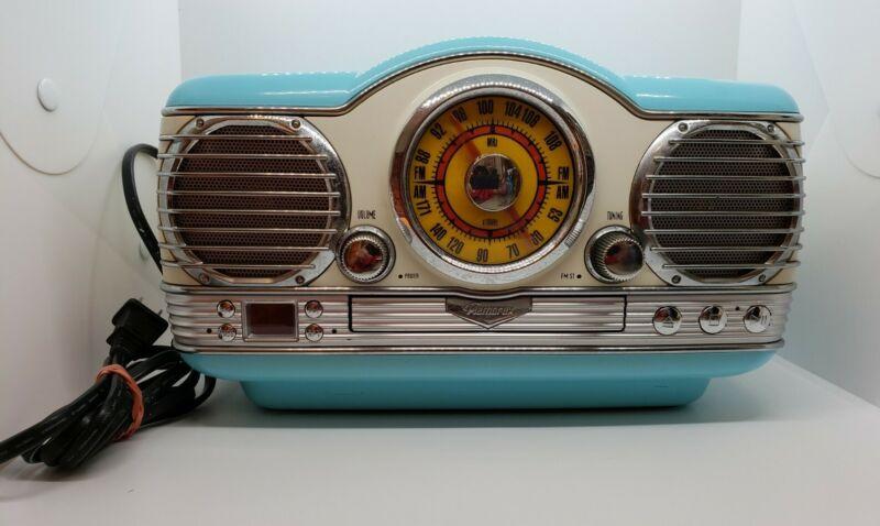 MEMOREX  Model  #MTT3200 Retro 50's TURQUOISE RADIO CD PLAYER