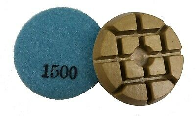 3 - 1500 Grit -resin Bonded Floor Polishing Pucks For Concrete Natural Stones