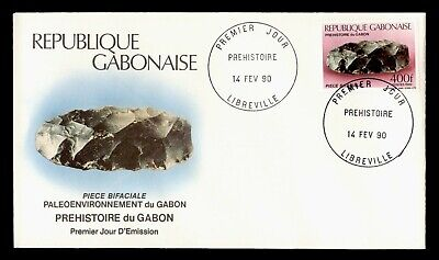 DR WHO 1990 GABON FDC PREHISTORIC TOOLS DOUBLE BLADED HAND  C243295