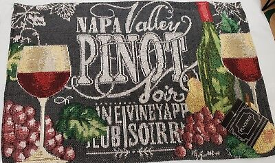 Napa Valley Pinot - Set of 4 Tapestry Placemats, 13