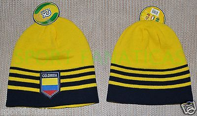 COLOMBIA  BEANIE SOCCER YELLOW  Skull Cap hat  CAP AUTHENTIC & OFFICIAL