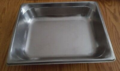 Half Inserts 2 12 Deep Stainless Steel Chafing Steam Dish Chafer Pan