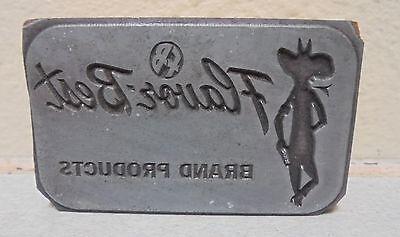 Vintage Flauor Best Cowboy Logo Metal Wood Letterpress Printing Block Type