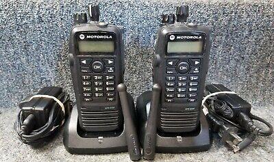 Motorola Xpr6550 Uhf Digital Dmr Mototrbo Set Of 2 Radios 403-470 Good 1-7 Sets