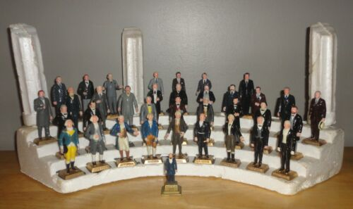 Vintage 1960s MARX American President Figures Base Stand w/ Error NIXON No Date