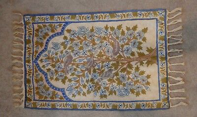 ANTIQUE CHINESE BRAID WOVEN RUG -HANGING TAPESTRY