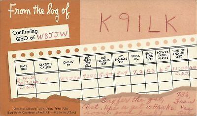 OLD VINTAGE K9ILK PRINCETON INDIANA USA AMATEUR RADIO QSL CARD