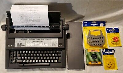 Att 6110 Surespell I 12 Carriage Electric Typewriter Extras Works Excellent