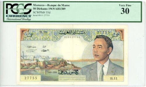 Morocco ... P-55d ... 50 Dirhams ... 1969 ... *Ch VF+* ... PCGS 30