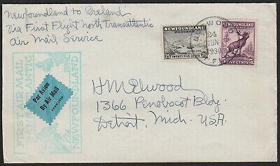 FFC NEWFOUNDLAND - PAN AM AIR - AAMC #41 - 1939 - BOTWOOD TO DUBLIN, IRELAND