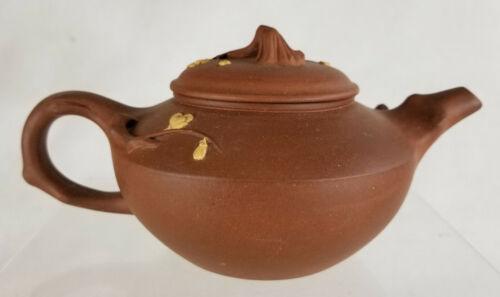 Antique Vintage Chinese Prunus Blossom Decorated Signed Yixing Zisha Teapot