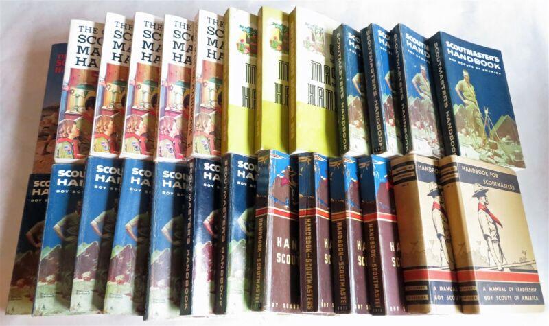Big lot of 26 Scoutmaster Handbook