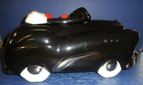 Glenn Appleman Black Buick Cookie Jar with Card- Excellent Pre-Owned Condition