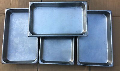 Lot 4 Stainless Steel 2.5 Deep Full Size Steam Table Pans 8819a