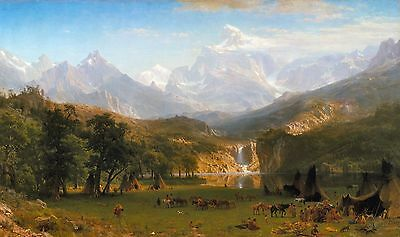 The Rocky Mountains, Lander's Peak by Albert Bierstadt Old Masters 11x19 Print Bierstadt The Rocky Mountains