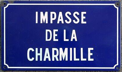 French enamel street sign road name plaque plate Charmille arbour bower Le Mans
