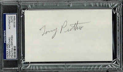 TOMMY PROTHRO SIGNED INDEX CARD  AUTOGRAPHED UCLA  PSA/DNA 65057684