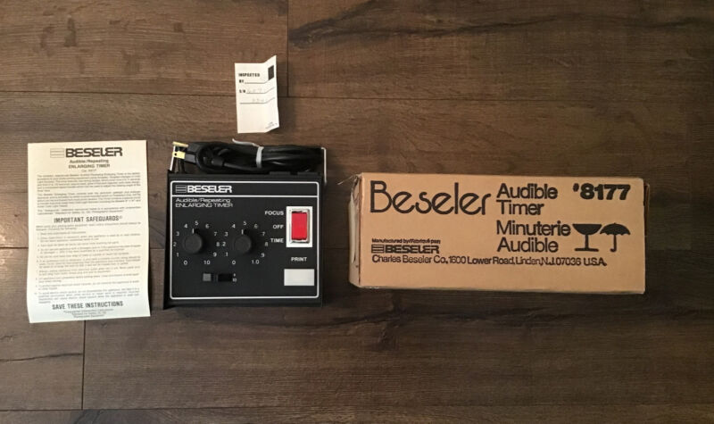 NOS NEW Beseler 8177 Audible/ Repeating Enlarging Timer for Photography Darkroom