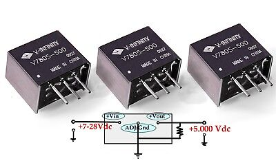 3 Cui Inc V-infinity Switch-mode Switching Regulator 7805 Dcdc Buck Converter