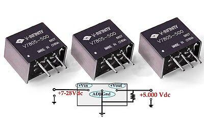 3 Cui Inc V-infinity Switch-mode Switching Regulator 7805 Dcdc Buck Converter