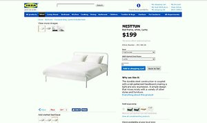 New Ikea Nesttun Bed Frame + Hovag Mattress Coogee Cockburn Area Preview