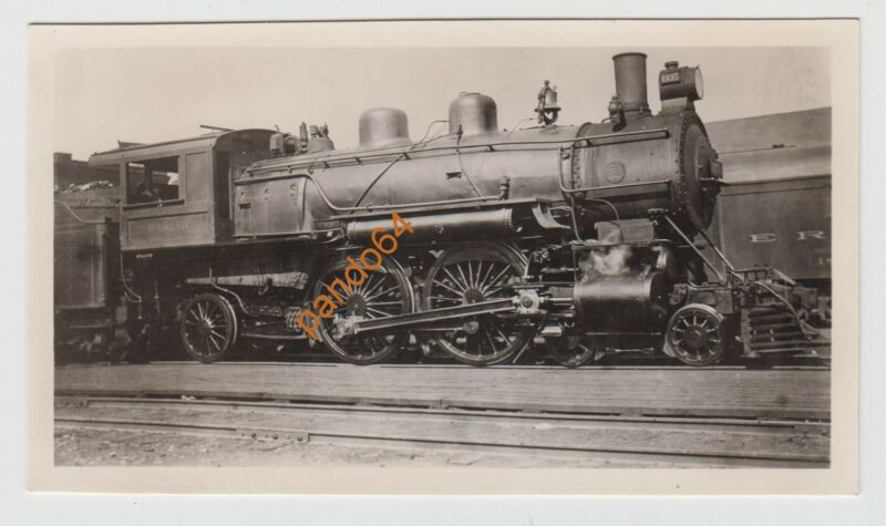 WABASH #605 4-4-2 STEAM LOCOMOTIVE Original B&W Photograph  TP12