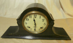 Antique Session Mantle/Tambor Clock Wooden Case-Working with Key