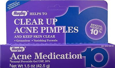 Rugby Acne Gel 10 1.5oz Tube -Expiration Date 08-2021