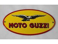 Logo geprägt Blechschild 20x30 cm Reklame Metallschild 1025 Moto GUZZI