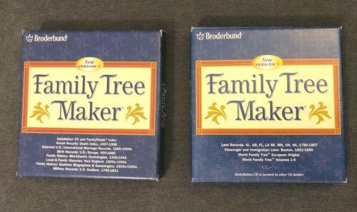 Broderbund Family Tree Maker Version 7 Album 1 And 2