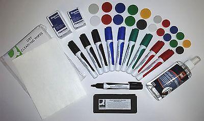 Whiteboard Zubehör * MAXI -Set * mit Boardmarker Tafelwischer Magnete Reiniger
