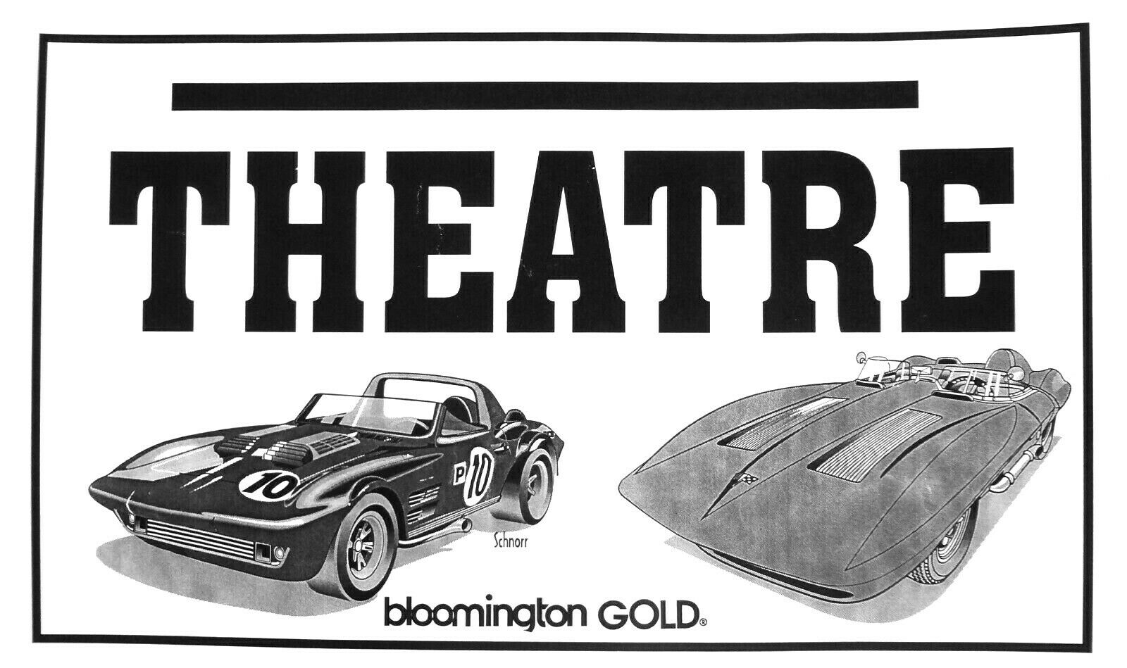 Bloomington Gold Corvette memorabilia Penske Grand Sport SS Racer Theatre sign