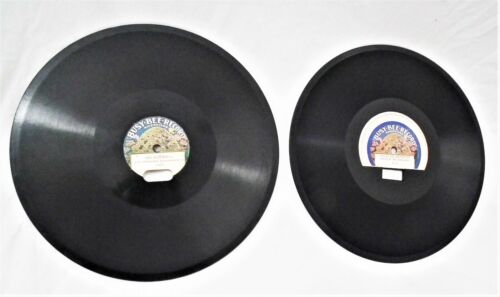 """2 RARE VINTAGE EARLY 10""""  BUSY BEE PHONOGRAPH GRAMOPHONE VICTROLA 78 RPM RECORD"""
