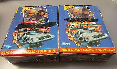 2 1989 Topps Back to the Future II Case Fresh Wax Box Lot 72 Packs