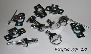 FAIRING FASTENERS QUICK RELEASE RIVET TYPE - 17mm -PACK OF 10 PIECES- DZUS TYPE
