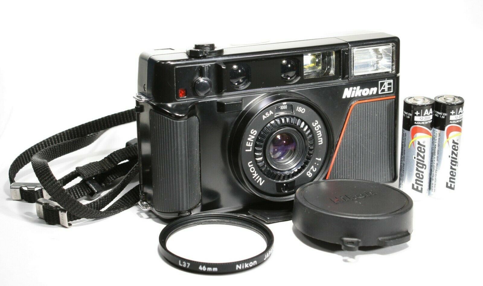 FILM TESTED Nikon L35AF Point Shoot 35mm Film Camera ISO 1000 Ready To Use - $239.99