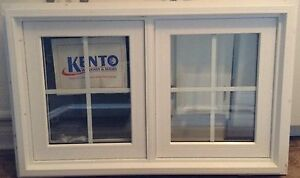 3 new vinyl windows