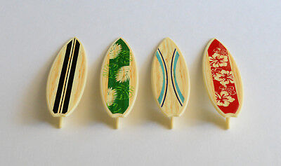 12 Surfboard Cupcake Layons Hawaiian Luau Tropical Beach Surfer Party Supply - Surfer Supplies