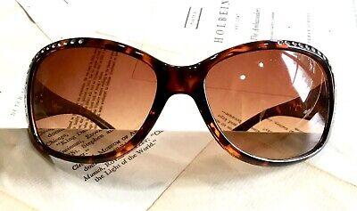 Free People Sunglasses Tortoise Embellished Clear Jewel Oval Oversized (Free People Sunglasses)
