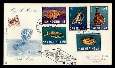 DR WHO 1966 SAN MARINO FDC FISH  C244592