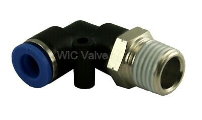 5pcs Pneumatic Male Elbow Connector Tube Od 18 X Npt 14 Air Push In Fitting