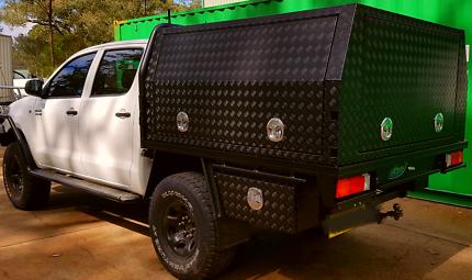 Aluminium ute canopy dual cab single cab tool box toolbox truck & BRAND NEW DUAL CAB UTE CANOPIES!! ALUMINIUM CHECKER PLATE ...