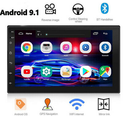 "Doble 2DIN 7"" Radio De Coche Pantalla táctil GPS SAT NAV WIFI BT FM Android 9.1"