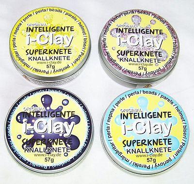 I-Clay intelligente Superknete,Knallknete transparent Glitzer Perlen Neu OVP