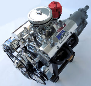 SBC Chevy Turn Key 383 Stroker Engine /TH350 Transmission- 515 HP Crate Motor GM