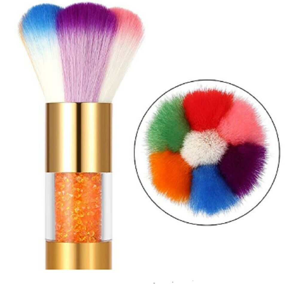 Nail Art Glitter Brush Makeup Dust Clean UV Gel Powder Remover Manicure Acrylic Dip Powder
